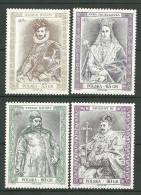 POLAND MNH ** 3485-3488 Roi Reine Henri De Vallois Anne Jagellone Etienne Batory Sigismond III - 1944-.... Republik