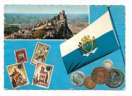 REPUBBLICA DI S.MARINO - PANORAMA  - LA BANDIERA NAZIONALE  VIAGGIATA FG - San Marino