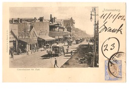 SOUTH AFRICA - JOHANNESBURG - COMMISSIONER STR. EAST - STAMP - MAILED TO NOCERA INFERIORE - EDIT BARNETT 1902 (2792) - South Africa