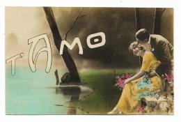 T'AMO - COPPIA INNAMORATI DEL 1916 VIAGGIATA FP - Couples
