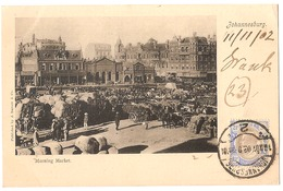 SOUTH AFRICA - JOHANNESBURG - MORNING MARKET - STAMP - MAILED TO NOCERA INFERIORE - EDIT BARNETT 1902 (2793) - South Africa