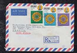 Brunei 1982 Registered Airmail Covers To SAO PAULO Brazil - Brunei (1984-...)