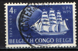 CONGO BELGA - 1949 - 75° ANNIVERSARIO DELL'UPU - USATO - 1947-60: Usati