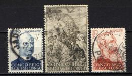 CONGO BELGA - 1947 - 50° ANNIVERSARIO DELL'ABOLIZIONE DELLA SCHIAVITU' NEL CONGO BELGA - USATI - 1947-60: Usati