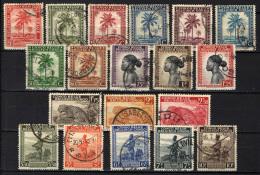 CONGO BELGA - 1942 - PALME E POPOLAZIONE INDIGENA - SCRITTA CONGO BELGE/BELGISCH CONGO - USATI - Congo Belga