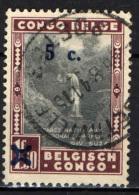CONGO BELGA - 1941 - FIUME SUZA CON SOVRASTAMPA - OVERPRINTED - USATO - Congo Belga