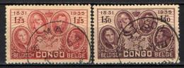 CONGO BELGA - 1935 - DINASTIA REGNANTE DEL BELGIO - USATI - Congo Belga