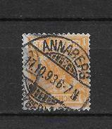 LOTE 1729 ///  ALEMANIA IMPERIO 1889-1900     YVERT Nº: 49  CON FECHADOR DE ANNABERG 17/10/1893 - Alemania