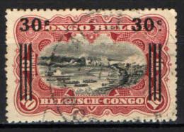 CONGO BELGA - 1921 - SCENE DI FIUME E CASCATE STANLEY CON SOVRASTAMPA - OVERPRINTED -USATO - Congo Belga