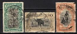 CONGO BELGA - 1910 - PALME DA OLIO, CACCIA ALL'ELEFANTE, CAPO BANGALE E CONSORTE - USATI - Congo Belga
