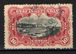 CONGO BELGA - 1909 - SCENE SUL FIUME E CASCATE STANLEY - USATO - Congo Belga