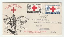 1963 BASUTOLAND  FDC RED CROSS Stamps Cover - Basutoland (1933-1966)