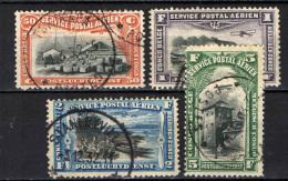 CONGO BELGA - 1920 - AEREO CHE PLANA SU PAESAGGI DEL CONGO BELGA - USATI - Congo Belga