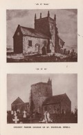 UPHILL- ST NICHOLAS CHURCH - DUAL VIEW. THEN @ NOW - England