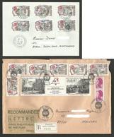 Personnages Célèbres +  Tryptique Anniversaire Révolution / Lot 2 Enveloppes Dont Recommandée / Mars 1989 - France