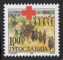 Yugoslavia 1999 Red Cross, Tax, Charity, Surcharge MNH - 1992-2003 République Fédérale De Yougoslavie