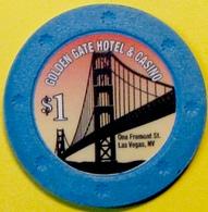 $1 Casino Chip. Golden Gate, Las Vegas, NV. E78. - Casino