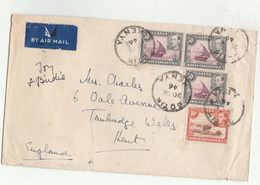 1946 Airmail SOTIK Kenya To GB COVER Stamps - Kenya, Uganda & Tanganyika