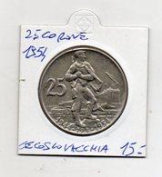 Cecoslovacchia - 1954 - 25 Corone - (MW1391) - Cecoslovacchia