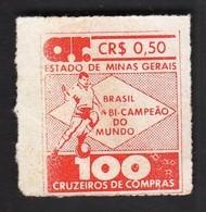 Brasil Minas Gerais 1950 / Football World Cup / Brasil Vice Champion / Vignette, Cinderella - Fußball-Weltmeisterschaft