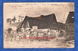 CPA Photo - BERNEVAL ( Normandie )- Groupe De Poilu En Cantonnement - Septembre 1916 - Récit Au Verso - TOP RARE - Guerre 1914-18