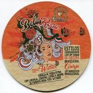 Lote B9, Brasil, Posavaso, Coaster, Bohemia, Bela Rosa - Portavasos