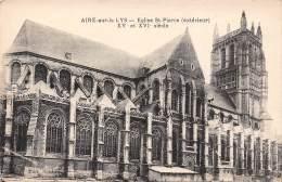 62 - AIRE-sur-la LYS - Eglise St-Pierre (extérieur) - XVe Et XVIe Siècle - Aire Sur La Lys
