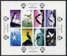 23272 St Kilda 1968 Birds Imperf M/s (auk Wren Gannet Shag Petrel Guillemot Kittiwake Puffin Scots Scotland) U/m - Local Issues