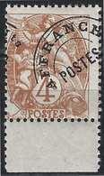 FRANCE Préoblitéré Type Blanc N° 47** BDF, 4 C Avec Un Tres Important Decalage à Cheval De La Surcharge RR Signé Calves - Curiosities: 1900-20 Mint/hinged