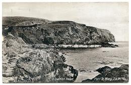 ISLE OF MAN : PORT ST. MARY - SPANISH HEAD / POSTMARK - WARK / ADDRESS - MANTLE HILL, BELLINGHAM, HEXHAM - Isle Of Man