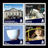 Ireland 2018 Mih. 2270/73 Royal Dublin Society. Fauna. Horse Racing. Pottery. Science MNH ** - Unused Stamps