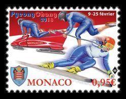 Monaco 2018 Mih. 3378 Olympic Winter Games In Pyeongchang. Alpine Skiing. Bobsleigh MNH ** - Monaco