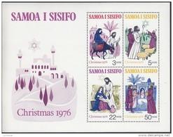 SAMOA, 1976 XMAS MINISHEET MNH - Samoa