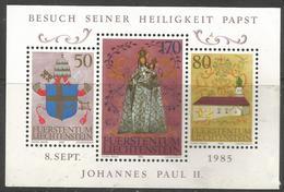 Liechtenstein - 1985 Pope John Paul II S/sheet MNH **   Mi BL12  Sc 816 - Blocks & Sheetlets & Panes