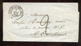Frankreich / 1849 / Bf.-Huelle K2-Stempel NEUVILLE-AUX-BOIS, Rs. Weitere Stempel (15102) - 1849-1876: Klassik