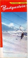 Brochure Dépliant Faltblatt Toerisme Tourisme - Badgastein Salzburg Austria - Ski  - Ca 1960 - Dépliants Touristiques