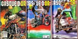 """Bandes Dessinées (Motos, Harley ?, Motard) """"CASQUE D'OR"""" Collection Reliée N° 31,32 Et 33_L56 - Motorräder"""