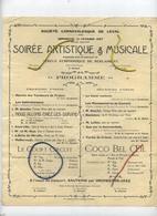 LEVAL : Société Carnavalesque 1927 : Soiréé Artistique & Musicale ( Papier A4 ) Regarder Scan Pour Detail - Announcements