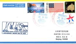 Vol équipe Olympique USA Los Angeles Pekin - NWA 30/07/08 - Ete 2008: Pékin