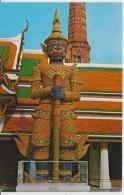Thailand Emerald Buddha Temple Bangkok Circulated Postcard - Thailand