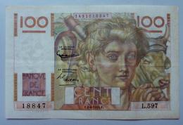 100 Francs Jeune Paysan 1.4.1954 - 1871-1952 Anciens Francs Circulés Au XXème