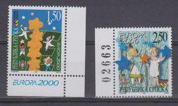 Europa Cept 2000 Bosnia/Herzegovina Serbia 2v  (1v With Number In Margin) ** Mnh (39979) - Europa-CEPT
