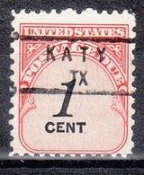 USA Precancel Vorausentwertung Preo, Locals Texas, Katy 840 - Vereinigte Staaten