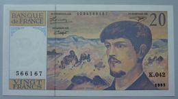 20 Francs Debussy 1993 - 1962-1997 ''Francs''