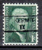 USA Precancel Vorausentwertung Preo, Locals Texas, Kermit 835,5 - Vereinigte Staaten