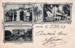 Gabon - Type Gruss Aus - Libreville -Gens De Noce , Café Bettencourt , Trvaux Publics - Gabon
