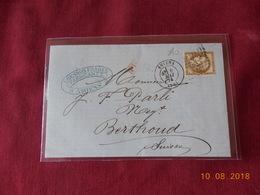 Lettre Avec No 56 à Destination De Berthoud Suisse En Date Du 8 Mai 1874 - Marcophilie (Lettres)