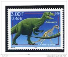 "France 3334  Neuf ** (""Allosaure"")  Cote 1,00€ - Neufs"
