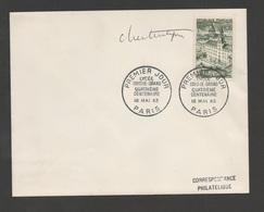 France (FDC) 1er Jour  LYCEE LOUIS-LE GRAND 4ème Centenaire  Paris 4 Mai 1963 /  N°  YT 1388 / First Day  Signé Artiste - FDC