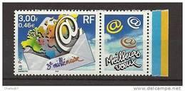 "France:n°3365 ** ""Pli Avec Carte Du Monde"" . Cote 1,20€ - Nuovi"